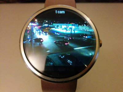 Moto 360 with IP Cam Viewer